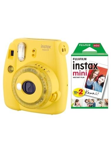 Fujifilm instax mini 9 Sari Fotograf Makinesi & 20'li Film Renkli